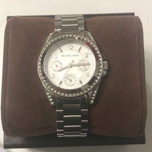 Michael Kors Women's Blair Silver Tone watch